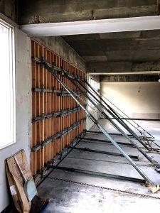 コンクリート耐震壁施工