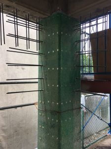 一階部分鉄筋コンクリートの耐震壁工事