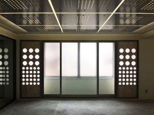 オフィスエリアの照明/4F