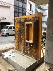 1・2階の鉄骨、RC耐震壁