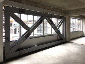 2階耐震ブレース工事